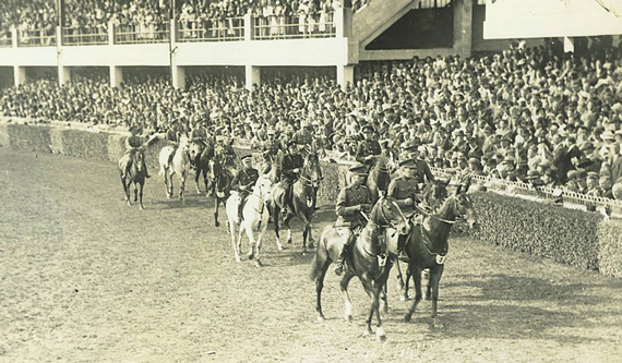 An early Nations Cup parade at the show.