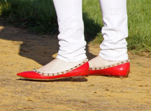 Essential footwear for a trot up worn by Marilyn Little (USA)