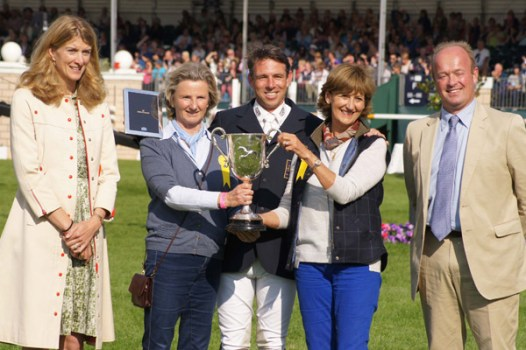 3rd: Sam Griffiths (Happy Times) with owners, Dinah Posford and Juliet Donald.