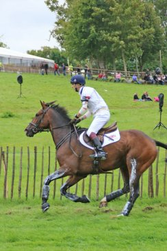 Harry Meade and Wild Lone on the course.