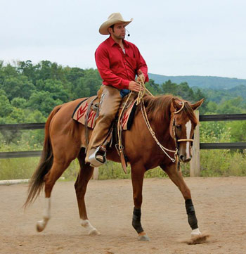 Barrel racer Pookie's Princess is in work with Patrick King.