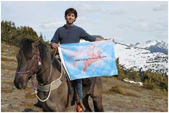 Filippe Masetti's horseback journey covered 16,000km.