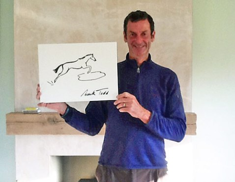 Mark Todd and his canvas.