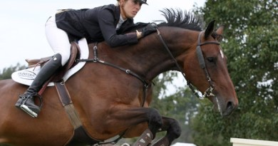 Katie Laurie and Dunstan Breeze, who will be in action over the weekend at the McMillan Equine Feeds 21st NZ National Showjumping and Showhunter Championships.
