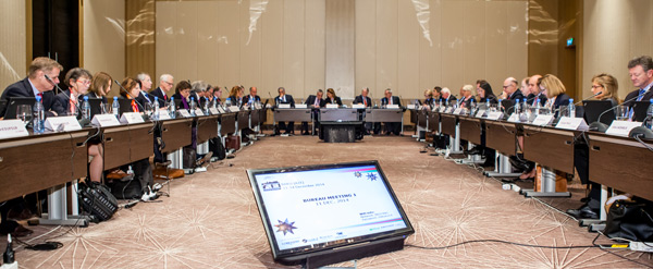 The FEI Bureau at the 2014 General Assembly in Baku, Azerbaijan, in December.