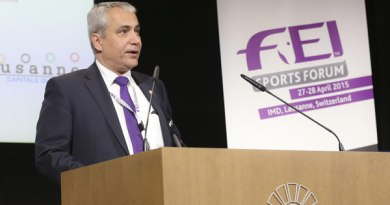 FEI President Ingmar De Vos, pictured at the FEI Sports Forum in Lausanne, Switzerland. Photo: Germain Arias-Schreiber/FEI