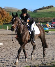 CCI1* winner Larissa Srhoy and Rockquest.