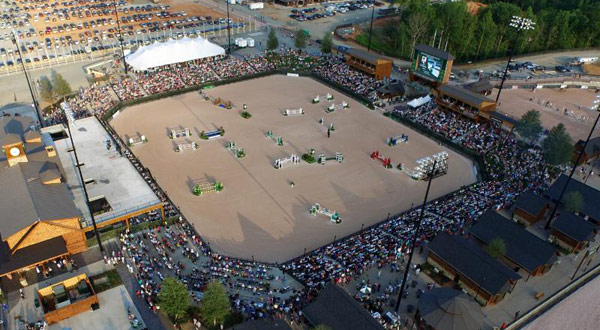 The George Morris Stadium is the main arena at Tryon International Equestrian Center.