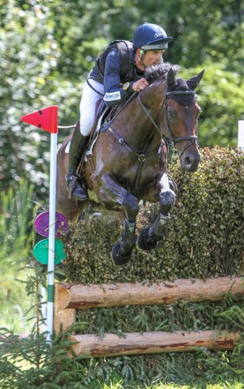 New Zealand's Jonathan Paget was fifth on Angus Blue in the CCI2*.