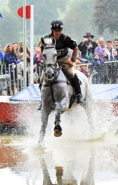 Land Rover Burghley Horse Trials 2014 winners Andrew Nicholson and Avebury.