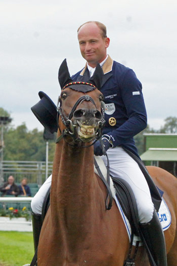 7th=: Michael Jung (GER) and La Biosthetique - Sam FBW smile for the camera.