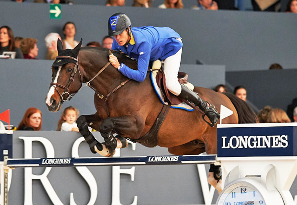 Germany's Christian Ahlmann made it a back-to-back double of wins, taking out the Madrid leg of the Longines FEI World Cup Jumping series with Taloubet Z in Madrid, Spain, on Sunday.