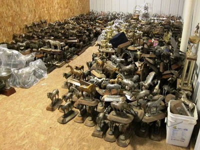 Crundwell's trophy room at her Dixon, Illinois, home was packed. Photo: FBI