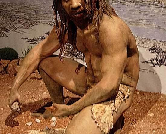 A reconstruction of Homo heidelbergensis. Photo: Jose Luis Martinez Alvarez, from Asturias, Spain CC BY-SA 2.0 via Wikimedia Commons