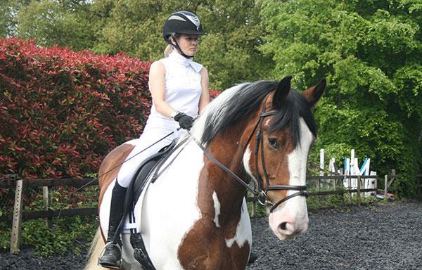 Dr Chavaunne Thorpe riding her horse, Betsy. Photo: Gabrielle Thorpe