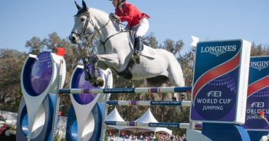 Marilyn Little and Corona 93 jumped to the top of the $100,000 Longines FEI World Cup Jumping qualifier at Live Oak International in Ocala at the weekend.