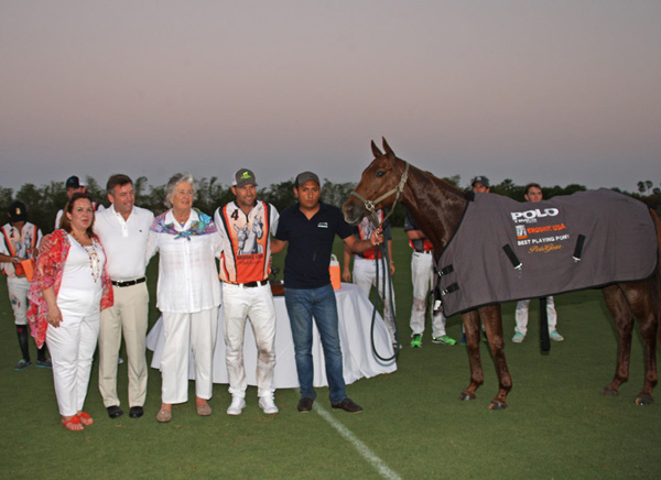 Best Playing Pony Dallas, owned by Brandon Phillips, and chosen by Gil Johnston. PoloTimes sponsored the Best Playing Pony award.