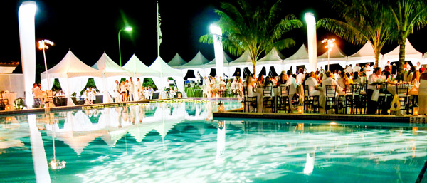 The scene was set for Nic Roldan's Sunset Polo & White Party with shades of white illuminating The Wanderers Club in Wellington, Florida.