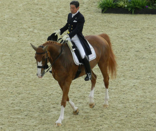 Hiroshi Hoketsu and Whisper 115 at the London 2012 Olympic Games.