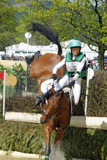 8th: Sarah Ennis (IRL) and Horseware Stellar recovered from this sticky moment to finish 8th.