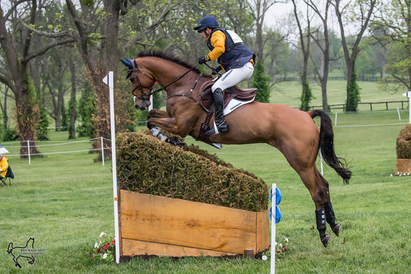 Phillip Dutton (USA) and Fernhill Fugitive are in second after the cross-country.