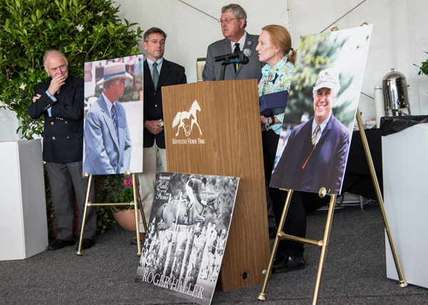 Roger's wife, Ann Haller, at Roger's Memorial Service during the Rolex Kentucky Three-Day Event.
