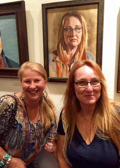 A portrait of Laura Leigh, right, is on show at the Nevada Historical Society.
