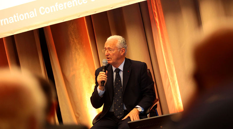 International Federation of Horseracing Authorities Chairman Louis Romanet addresses this week's IFHA conference.