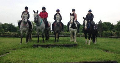 Members of Follifoot Park Riding Centre's Young Equestrians Group.