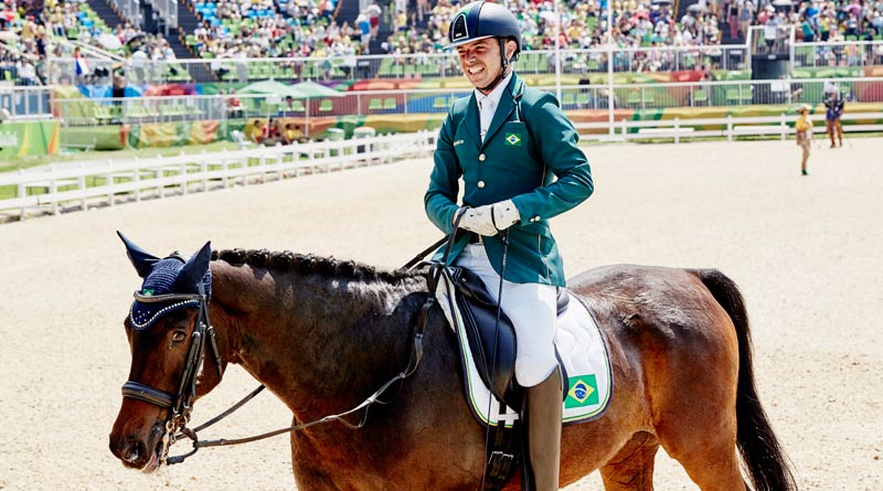 Rodolpho Riskallaand Warenne at the 2016 Paralympic Games, where they finished seventh overall.©Liz Gregg/FEI