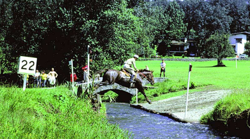 Jean-Jacques Guyon and Pitou winning eventing gold at the 1968 Olympic Games in Mexico City.
