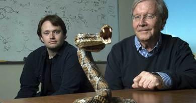 Chemistry professor Ken Shea, right, and doctoral student Jeffrey O'Brien have developed a broad-spectrum snake venom antidote. Photo: Steve Zylius / University of California, Irvine