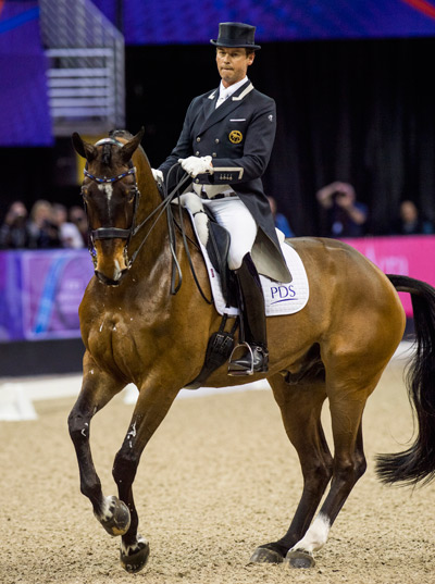 Carl Hester and Nip Tuck in Grand Prix Freestyle at the FEI World Cup in Nebraska at the weekend. © FEI April 1 2017