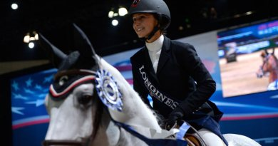 Georgina Bloomberg at the Longines LA Masters in Los Angeles in 2014.