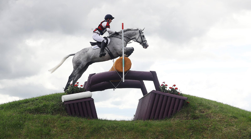 Britain's Daniel Aldeson pictured on Cloud Atlas at the Tattersalls Horse Trials.