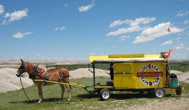 Bernie Harberts built the wagon that he and Polly took on their journey from north to south through the US interior.