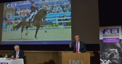 FEI President Ingmar de Vos says the IOC's confirmation of equestrian sport on the programme for 2024 and its approval of the new formats amounted to a direct acknowledgment of horse sport's willingness to adapt and modernise.