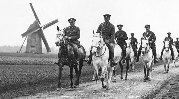 Commander Haig leads the Royal Scots Greys.
