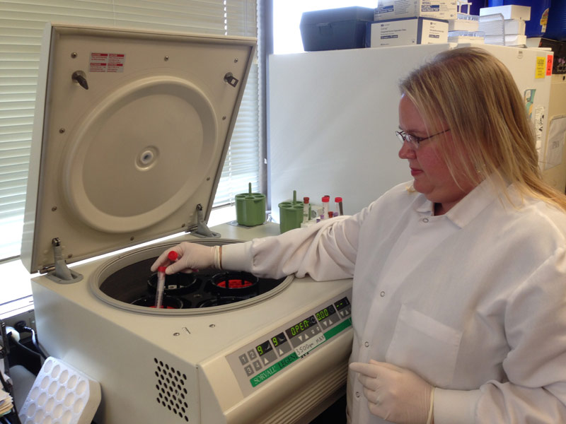 The PCR lab at UC Davis can test for more than 80 infectious pathogens.