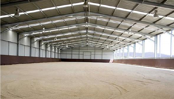 Bandanora has a 66m x 25m indoor arena.