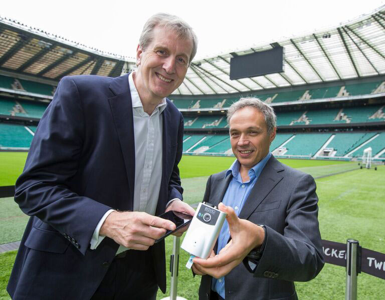 Rugby Football Union Chief Medical Officer Dr Simon Kemp, left, and University of Birmingham's Professor Tony Belli.