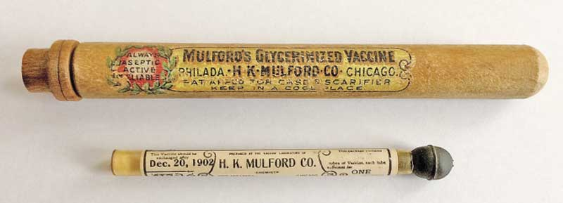 The 1902 H.K. Mulford vaccine that underwent testing. Photo: Schrick et al. DOI: 10.1056/NEJMc1707600