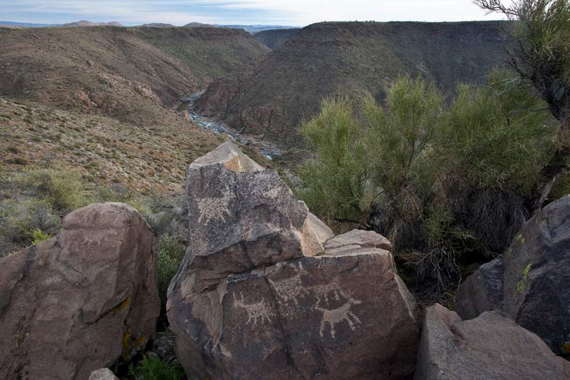 Rock art in the 70,900-acre Agua Fria National Monument, about 40 miles north of central Phoenix in Arizona.