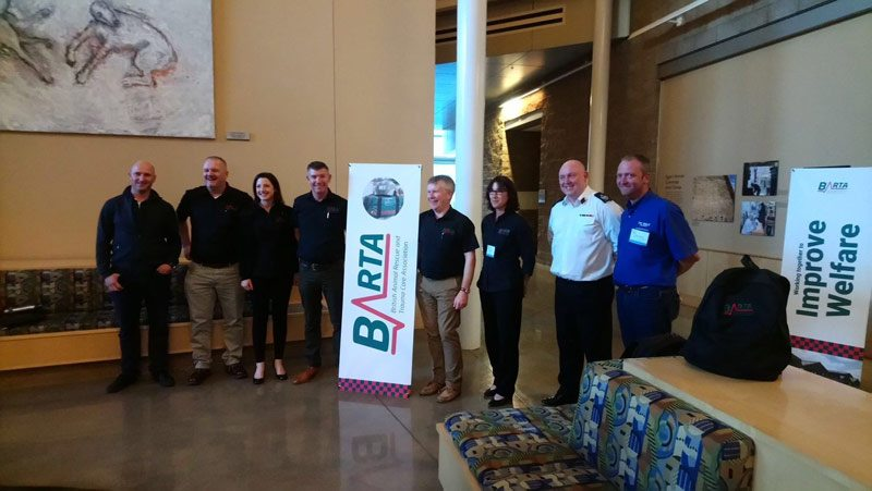 Presenters at the British Animal Rescue and Trauma Care Association (BARTA) conference at the University College Davis School of Veterinary Medicine, California.
