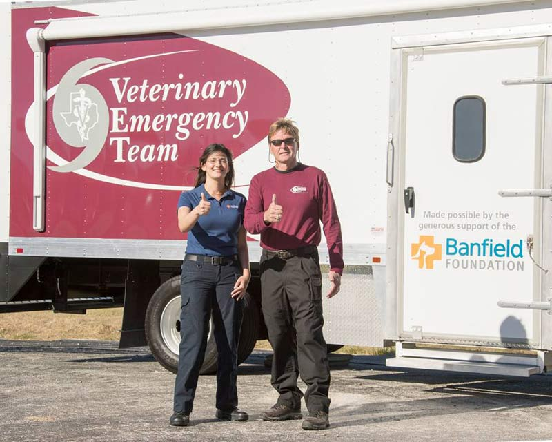 The fully equipped veterinary medical unit will enable even more expansive and efficient rescue and treatment of pets during disasters.