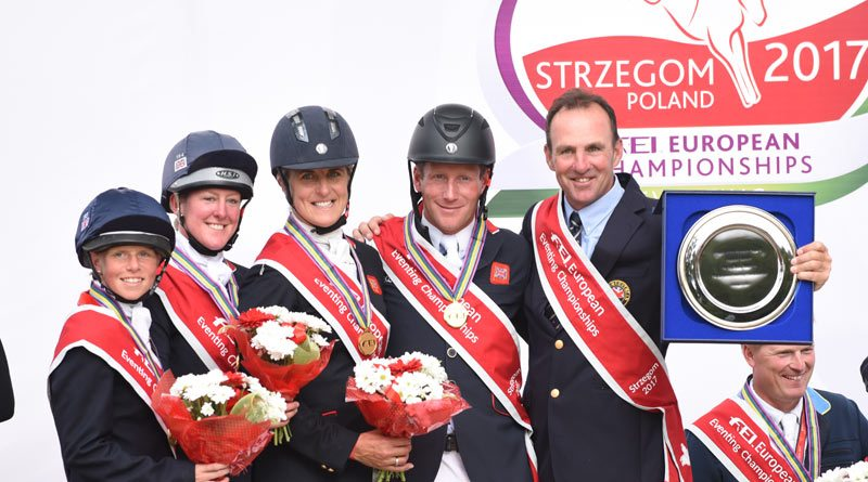 Britain'swinning team from the 2017 European Championshipshas been named Eventing Award winners at the Animal Health Trust Awards.