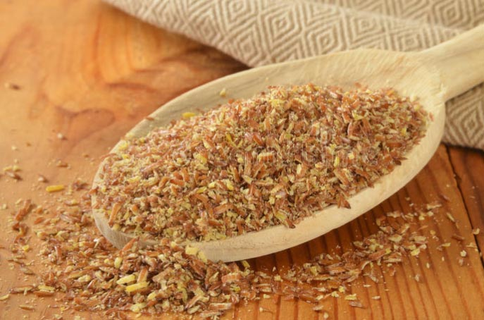 Coarsely ground flaxseed.