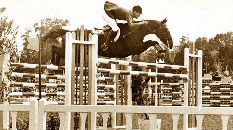 Bill Steinkraus and Snowbound on their way to winning gold at the 1968 Mexico City Olympic Games. He wsa the first US rider to win an individual showjumping medal.