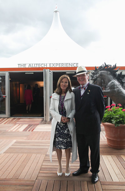 Deirdre and Dr Pearse Lyons at the Alltech Pavilion at the 2010 World Equestrian Games in Kentucky.