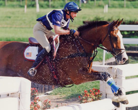 Karen O'Connor and Biko competing at the 1995 European Championships. © Brant Gamma